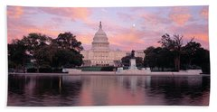 Us Capitol Washington Dc Beach Sheet by Panoramic Images