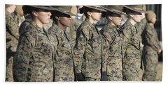 U.s. Marine Corps Female Drill Beach Towel
