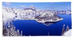 Usa, Oregon, Crater Lake National Park Beach Towel