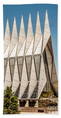 Air Force Academy Chapel Beach Sheet by Sue Smith