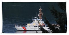 Uscgc Blue Shark Beach Towel by E Faithe Lester