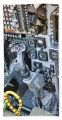 Usmc Av-8b Harrier Cockpit Beach Sheet by Olga Hamilton