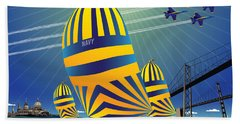 Usna High Noon Sail Beach Towel
