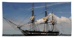 Uss Constitution - Featured In Comfortable Art Group Beach Sheet