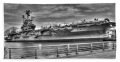 Uss Intrepid Beach Towel