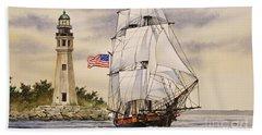 Uss Niagara Beach Towel by James Williamson