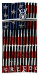 Beach Towel featuring the photograph V8 Freedom by Jani Freimann