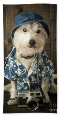 Vacation Dog Beach Sheet by Edward Fielding