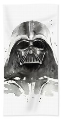 Darth Vader Watercolor Beach Towel by Olga Shvartsur