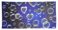 Valentine Bubbles Beach Towel
