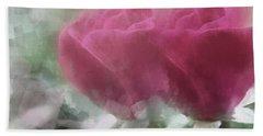 Valentine's Roses Beach Towel