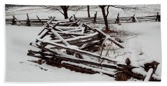 Valley Forge Snow Beach Towel by Michael Porchik