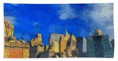 Van Gogh Meets Manhattan Beach Towel