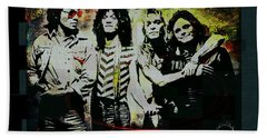Van Halen - Ain't Talkin' 'bout Love Beach Towel by Absinthe Art By Michelle LeAnn Scott