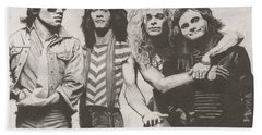 Van Halen Beach Towel by Jeff Ridlen