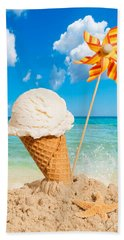 Vanilla Icecream Beach Towel