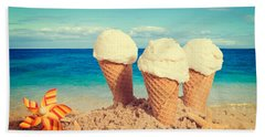 Vanilla Icecreams Beach Towel