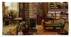 Various Tortoise Shell Furniture And Accessories Beach Towel