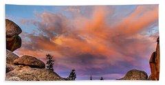 Vedauwoo Sunrise Beach Towel by Steven Reed