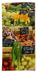 Veg At Marche Provencal Beach Towel