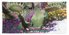 Beach Towel featuring the photograph Vegas Butterfly Garden Flowers Cactus Romanti Interior Decorations by Navin Joshi
