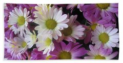 Vegas Butterfly Garden Flowers Colorful Romantic Interior Decorations Beach Towel by Navin Joshi