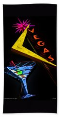 Vegas Martini Beach Towel
