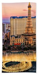 Beach Towel featuring the photograph Vegas Water Show by Tammy Espino