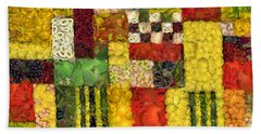 Vegetable Abstract Beach Towel