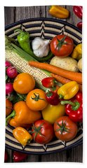 Vegetable Basket    Beach Towel by Garry Gay