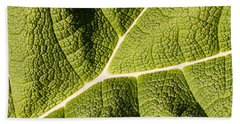 Veins Of A Leaf Beach Towel