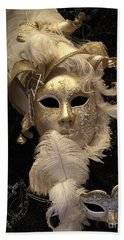 Beach Towel featuring the photograph Venetian Face Mask B by Heiko Koehrer-Wagner