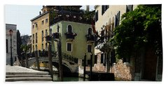 Venice Canal Summer In Italy Beach Towel