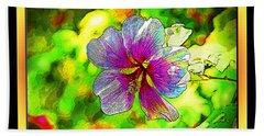 Venice Flower - Framed Beach Sheet