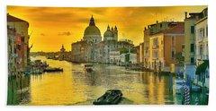 Golden Venice 3 Hdr - Italy Beach Towel by Maciek Froncisz