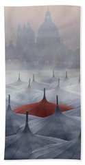 Venice In Rain Beach Towel