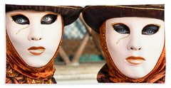 Venice Masks - Carnival. Beach Towel