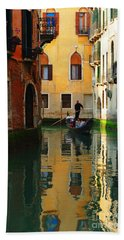 Venice Reflections Beach Towel by Bob Christopher