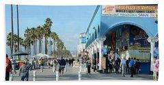 Venice Street Scene Beach Sheet