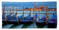 Beach Towel featuring the photograph Venice View To San Giorgio Maggiore by Heiko Koehrer-Wagner