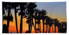 Beach Sheet featuring the photograph Ventura Boardwalk Silhouettes by Lynn Bauer