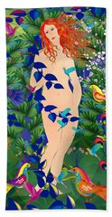 Venus At Exotic Garden Beach Towel