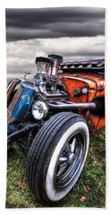 Vermin's Diner Rat Rod Front Beach Towel