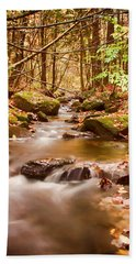 Vermont Stream Beach Towel by Jeff Folger