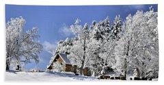 Vermont Winter Beauty Beach Sheet