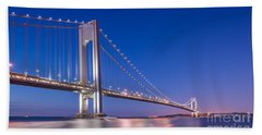 Verrazano Bridge Before Sunrise  Beach Towel