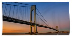 Verrazano Bridge Sunrise  Beach Towel