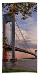 Verrazano Narrows Bridge Beach Towel