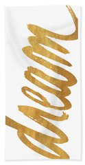 Vertical Gold Dream Beach Towel