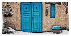 Very Blue Door Beach Sheet